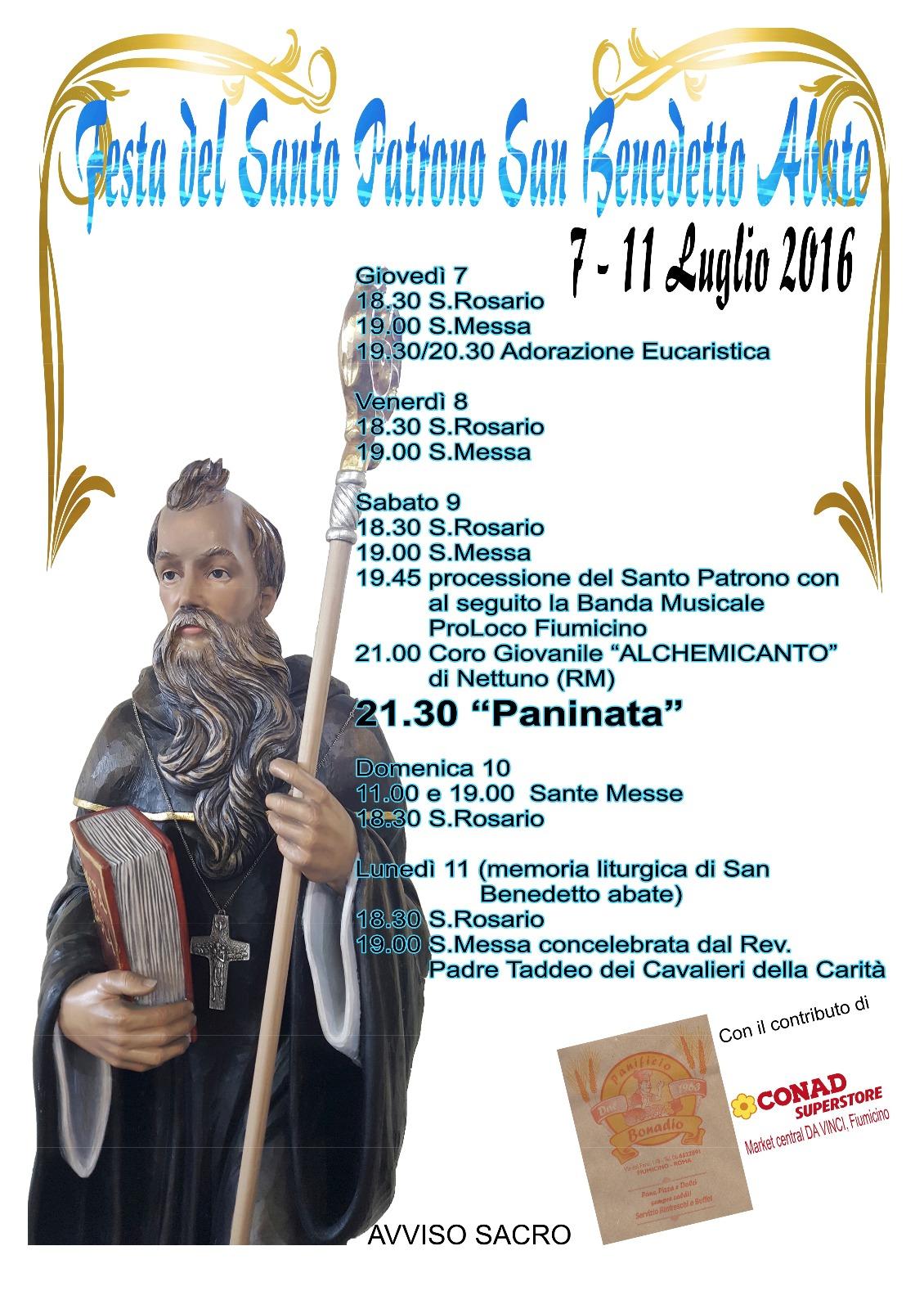 Programma Festa di S. Benedetto abate